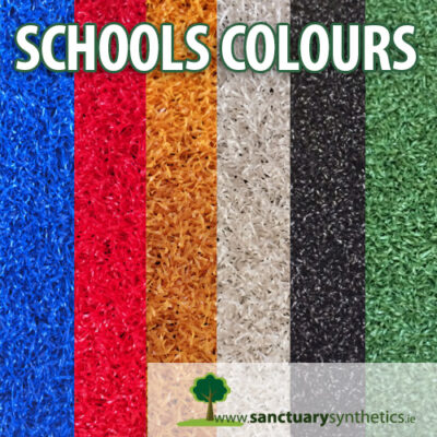 Schools coloured artificial grass