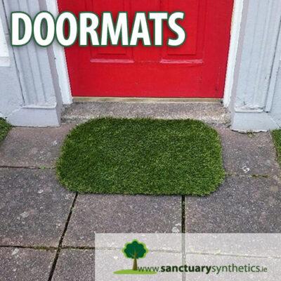 Artificial grass doormat