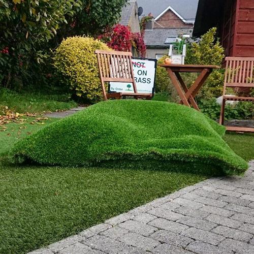 Artificial grass beanbags