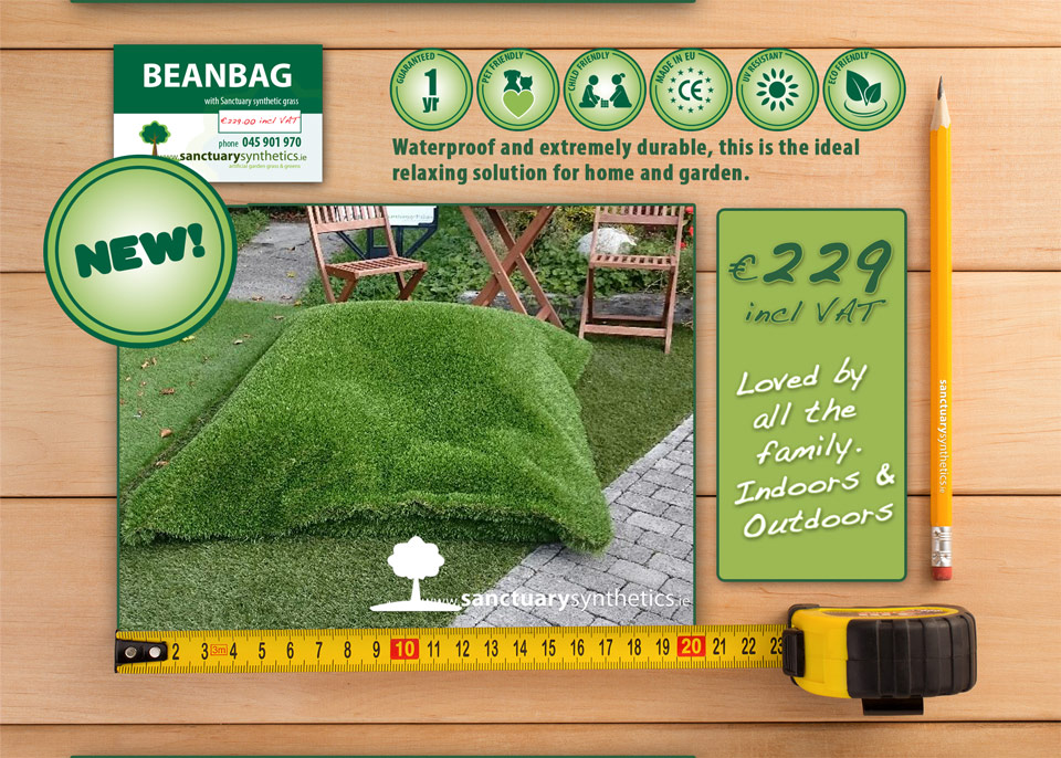 Sanctuary Synthetics artificial grass bean bags