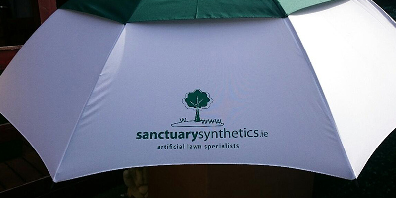 Sanctuary branded umbrella