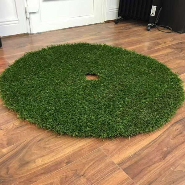 Artificial grass Christmas tree skirt