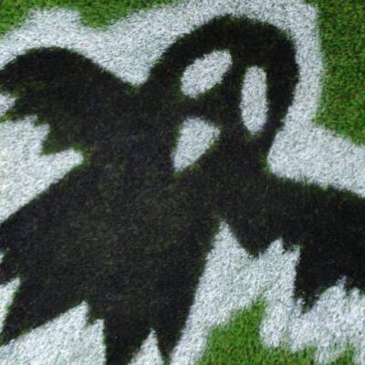 artificial grass doormat Halloween