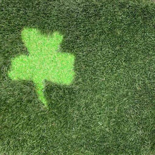 St Patricks Day artificial grass doormat