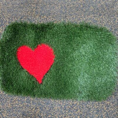 Valentines artificial grass doormat