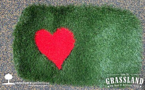Valentines artificial grass doormat